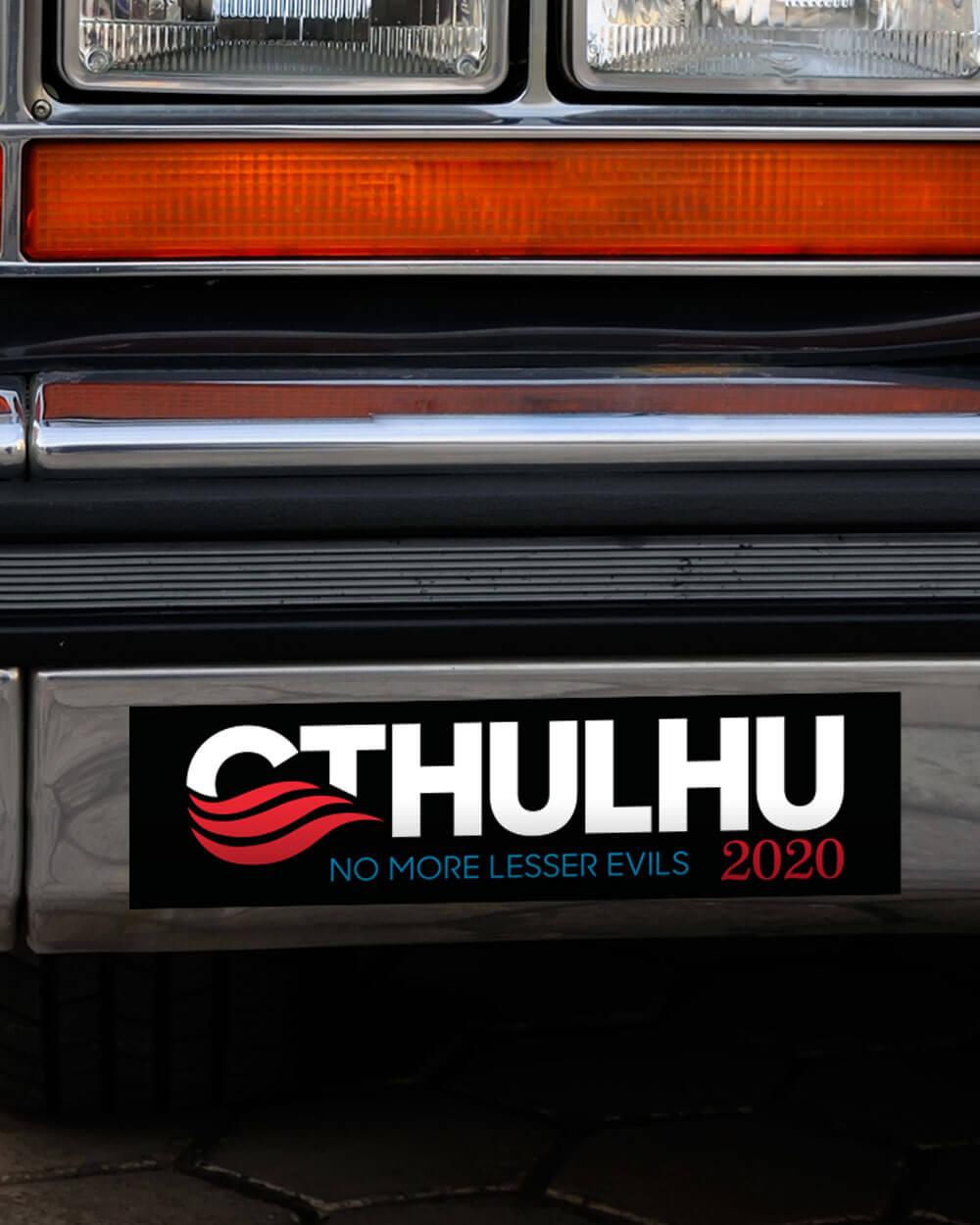 Cthulhu for president 2020 bumper sticker