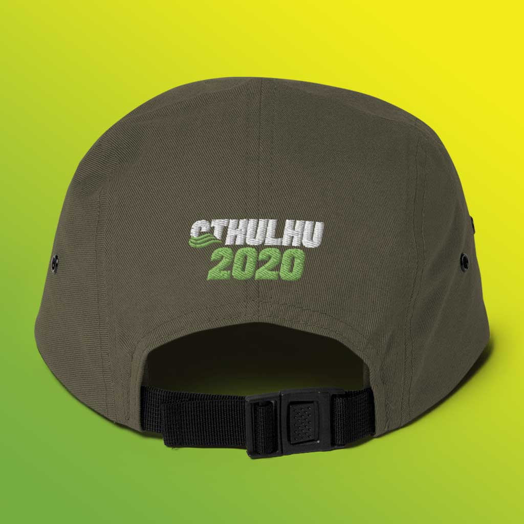 Cthulhu for President 2020 Supporter 5 Panel Cap