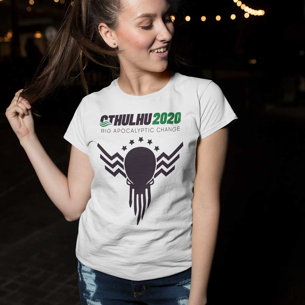 The Cthulhu for President Supporter Women's Tee in white
