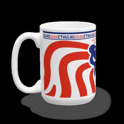 Cthulhu Patriot Mug 15 oz - left view
