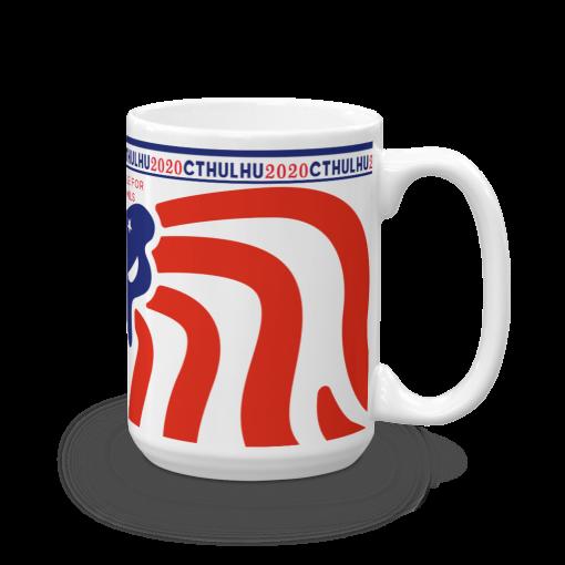 Cthulhu Patriot Mug 15 oz - right view