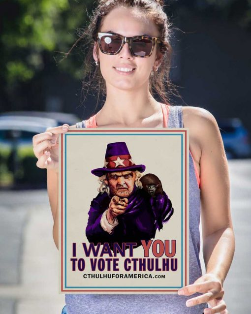Aunt Keziah: Vote Cthulhu Poster 12x16