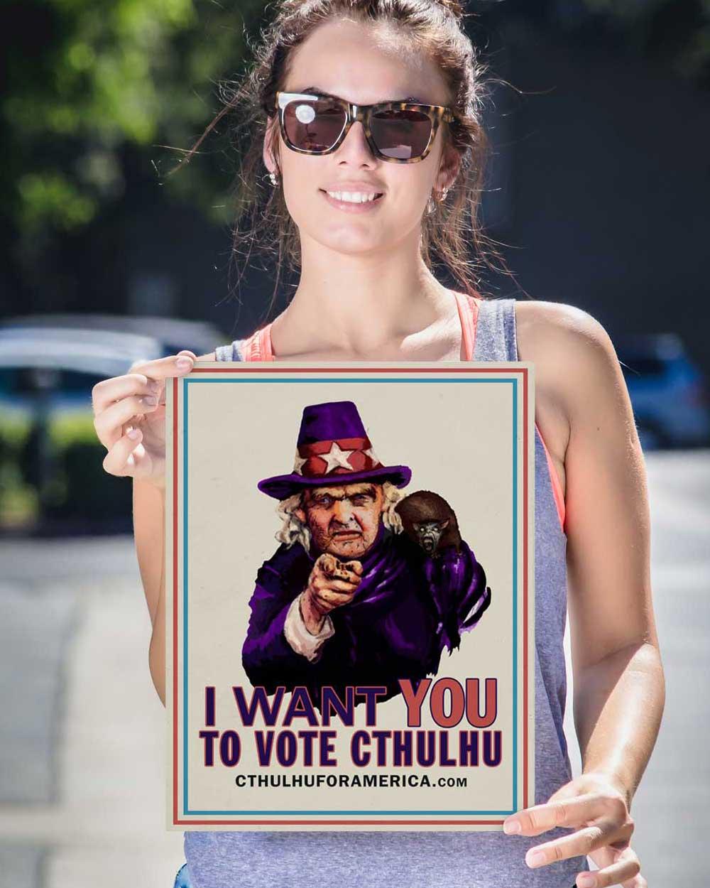 Aunt Keziah: Vote Cthulhu Poster 12x16