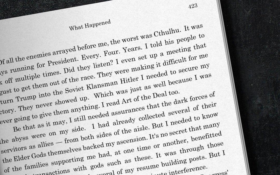 Clinton book denounces Cthulhu